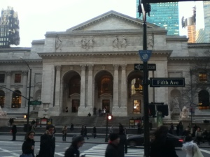 The New York Public Library on 5th Avenue