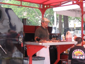 Pitmaster Chris Lilly of Big Bob Gibson's Bar-B-Q at the Big Apple BBQ