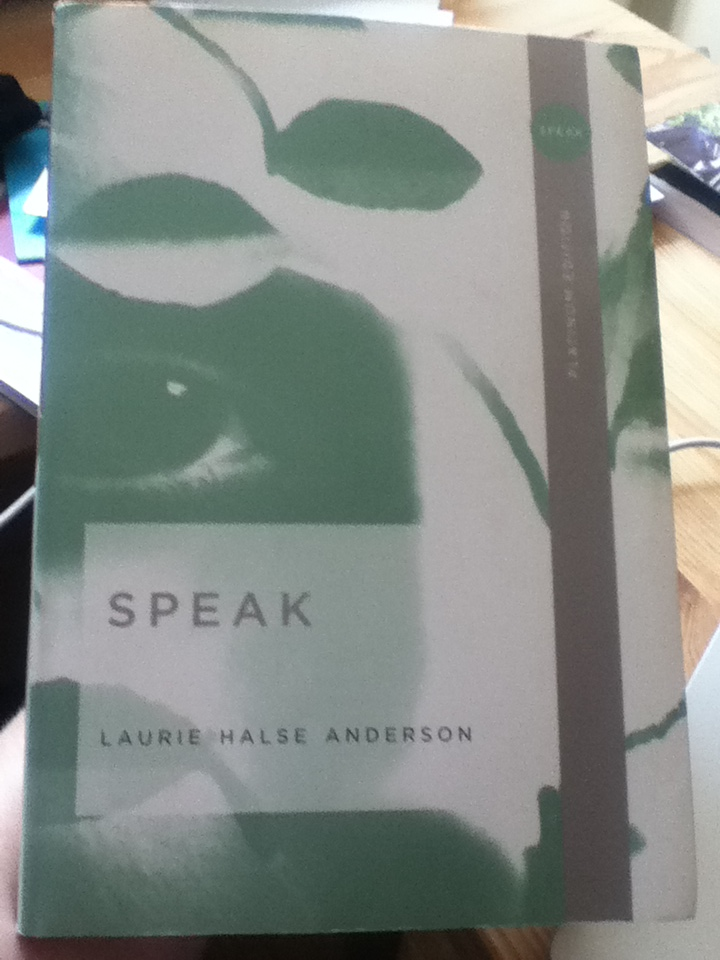 essays on the book speak by laurie halse anderson Laurie halse anderson and maria rachel hooley essay really is, and how events such as skye's go on every second but one thing that disturbed me the most was how closely related it was to the book, speak, by laurie halse anderson.