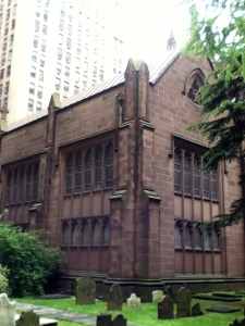 Trinity Church cemetery - Broadway and Wall Street