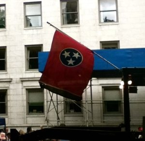 Fun to see the Tennessee flag flying proudly in NYC.