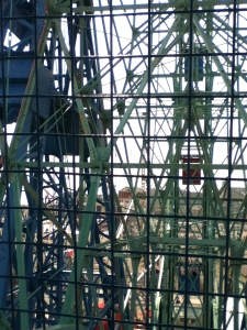 View from inside the Wonder Wheel, which has been in operation since 1920