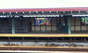 Subway station stained glass