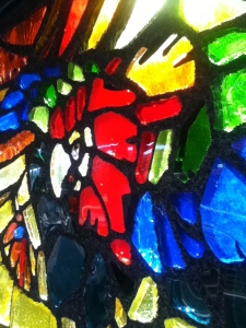 Stained glass up close