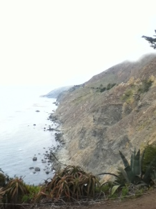 View of the cliffs near Big Sur