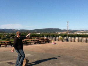 Goofing off in Sonoma