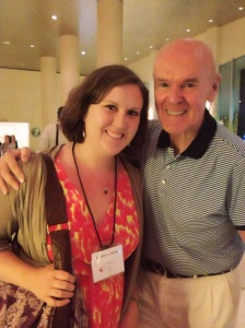 Me with the acclaimed author Richard Peck, who led a fabulous session on first lines and gave the keynote at the Golden Kite luncheon. I've been lucky to  get to do some work for Richard, and it was fun to see him at the conference!