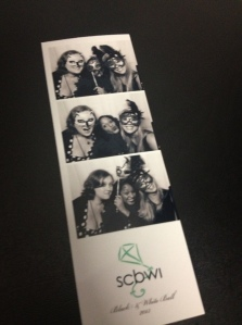 Me, Ghenet, and Jodi in the photo booth at the Black & White Ball