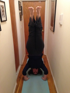 "I have titled this photo: ""Headstand in the Hallway."" :)"