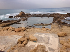 Herod the Great's swimming pool (and the Mediterranean Sea)