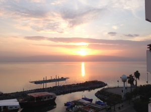 Sunrise over the Sea of Galilee, at Tiberias