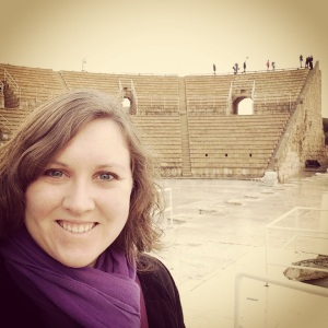 At Herod's theater at Caesarea