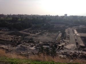 The excavations of the Roman city at Beit She'an