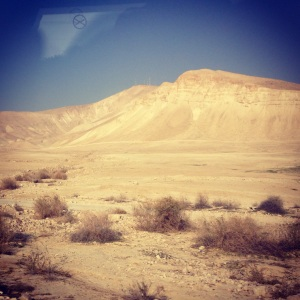 Driving south through the Jordan Valley