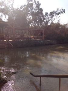 The Jordan River - and that's actually Jordan on the other side!