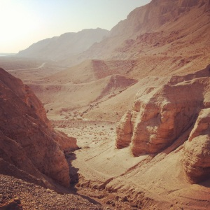 At Qumran, where the Dead Sea Scrolls were discovered