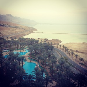 View from our hotel room at the Dead Sea