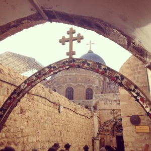 Heading to the Church of the Holy Sepulchre in Jerusalem