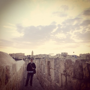 Justin on the ramparts.