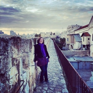 Me on the ramparts of the Old City walls