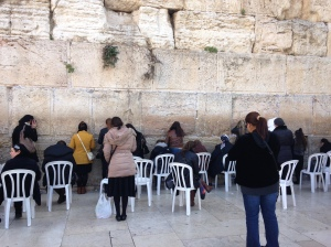 The Western Wall in Jerusalem - with my prayer tucked in between the stones.